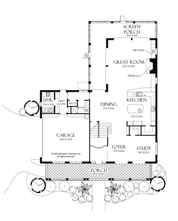 Country Floor Plan - Main Floor Plan Plan #929-897