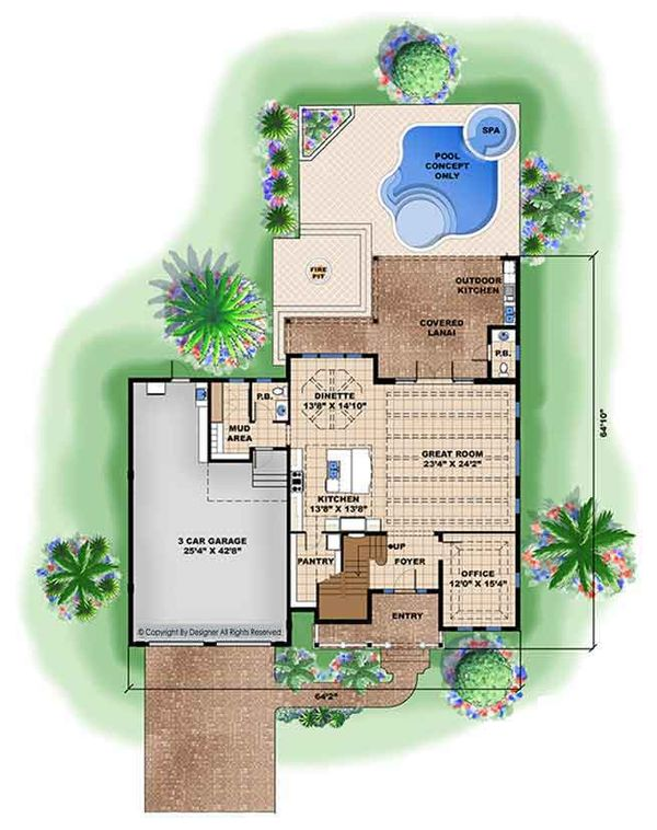 Country Floor Plan - Main Floor Plan Plan #1017-168