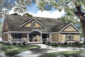 Country Exterior - Front Elevation Plan #17-2949