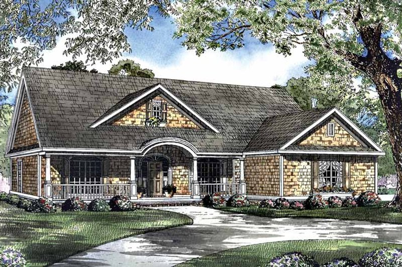 Dream House Plan - Country Exterior - Front Elevation Plan #17-2949