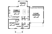 Colonial Floor Plan - Main Floor Plan Plan #20-2250