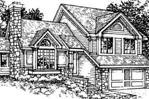 Bungalow Exterior - Front Elevation Plan #320-344