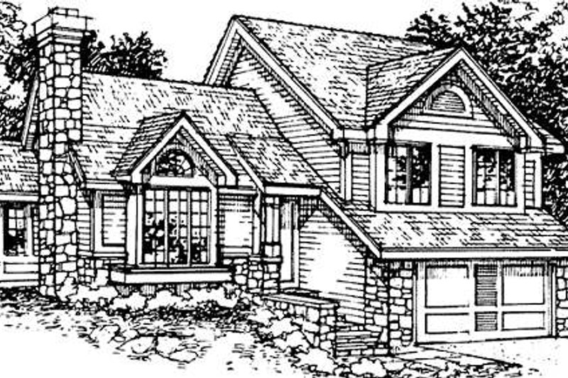 Bungalow Style House Plan - 2 Beds 2.5 Baths 1776 Sq/Ft Plan #320-344 Exterior - Front Elevation