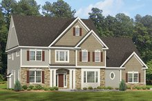 Architectural House Design - Colonial Exterior - Front Elevation Plan #1010-174