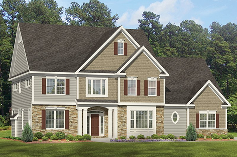 Colonial Exterior - Front Elevation Plan #1010-174