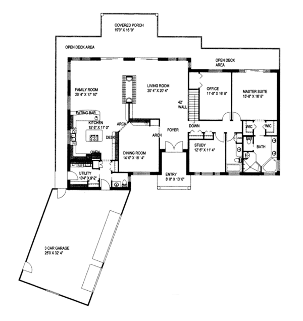 House Plan Design - Contemporary Floor Plan - Main Floor Plan #117-842