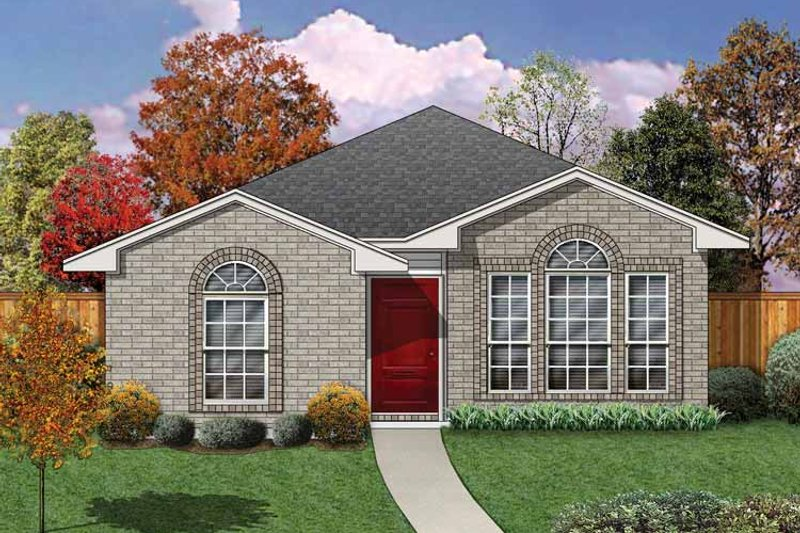 Traditional Exterior - Front Elevation Plan #84-673 - Houseplans.com