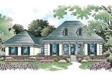 Home Plan Design - European Exterior - Front Elevation Plan #45-110