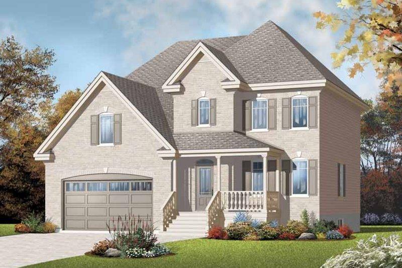 House Plan Design - European Exterior - Front Elevation Plan #23-2370