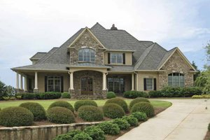 Home Plan - European Exterior - Front Elevation Plan #437-66