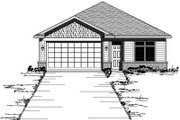 Traditional Style House Plan - 2 Beds 2 Baths 1723 Sq/Ft Plan #51-245 Exterior - Front Elevation