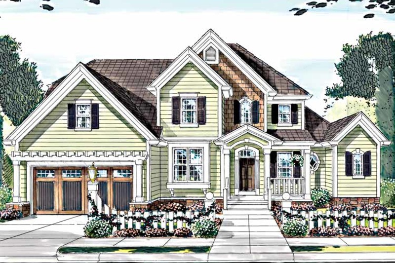 Country Exterior - Front Elevation Plan #46-793 - Houseplans.com