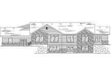 Home Plan - Ranch Exterior - Rear Elevation Plan #5-387