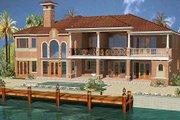 Mediterranean Style House Plan - 7 Beds 8.5 Baths 6412 Sq/Ft Plan #420-190 Exterior - Rear Elevation