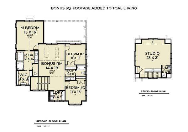 House Plan Design - Farmhouse Floor Plan - Upper Floor Plan #1070-137