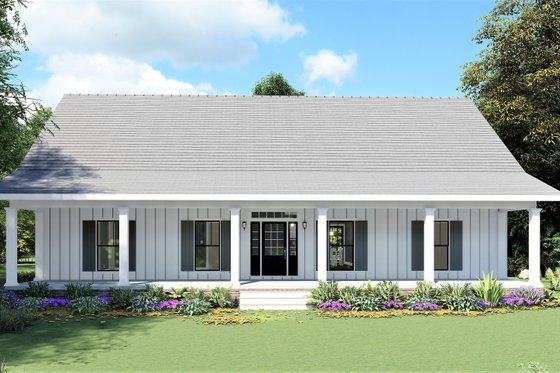 Farmhouse Exterior - Front Elevation Plan #44-248