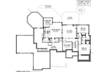 Lower Level floor plan - 7000 square foot Traditional home