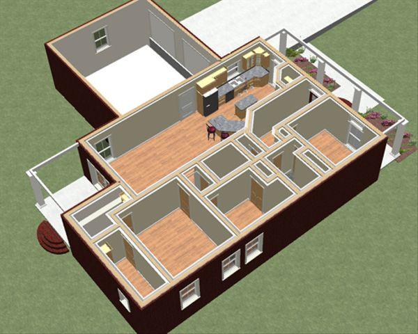 Country Floor Plan - Other Floor Plan Plan #44-183