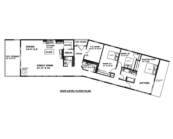 Dream House Plan - Modern Floor Plan - Main Floor Plan #117-913