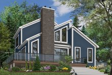 Modern Exterior - Front Elevation Plan #23-2019