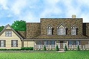 Farmhouse Style House Plan - 3 Beds 4 Baths 2658 Sq/Ft Plan #67-137 Exterior - Front Elevation