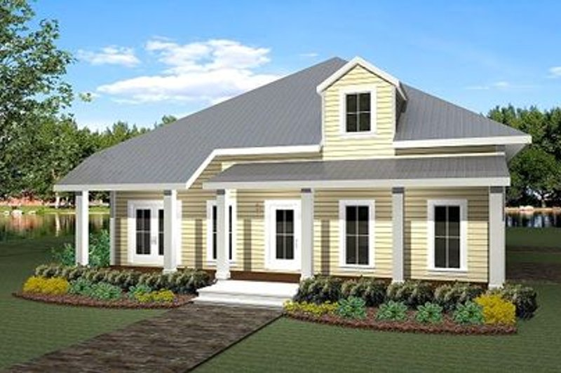 Traditional Exterior - Front Elevation Plan #44-163 - Houseplans.com