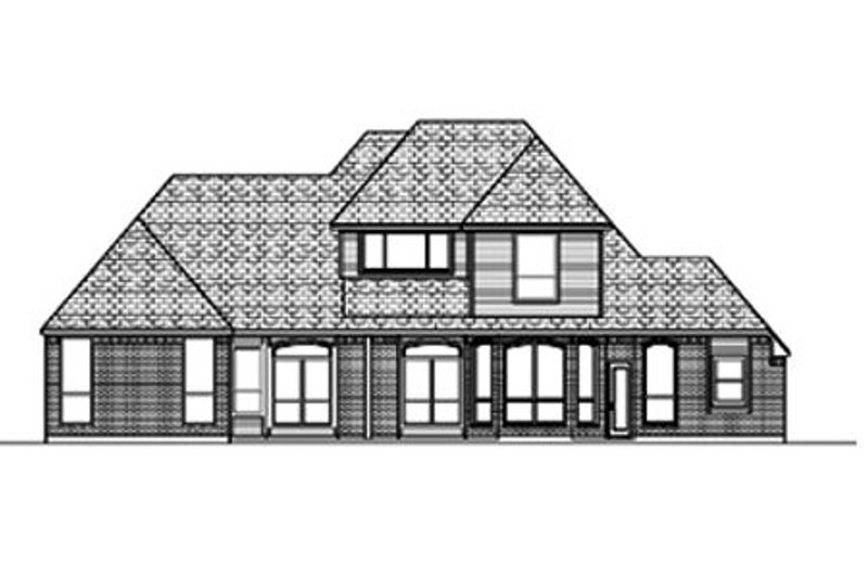 Traditional Exterior - Rear Elevation Plan #84-392 - Houseplans.com