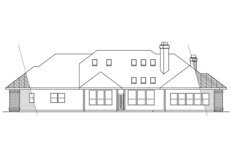Traditional Exterior - Rear Elevation Plan #124-258 - Houseplans.com