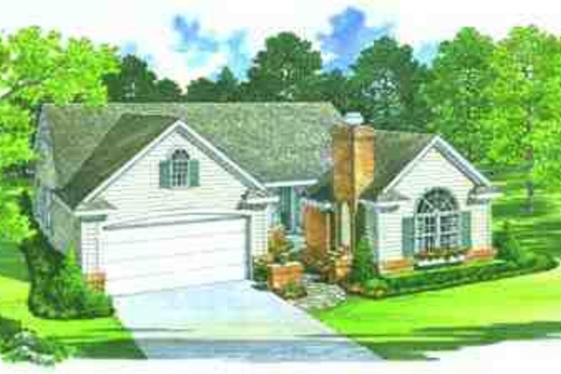 House Blueprint - Ranch Exterior - Front Elevation Plan #72-223