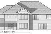 Traditional Style House Plan - 4 Beds 3 Baths 2524 Sq/Ft Plan #70-687 Exterior - Rear Elevation