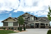 Craftsman Style House Plan - 4 Beds 3.5 Baths 2901 Sq/Ft Plan #1069-11 Exterior - Front Elevation