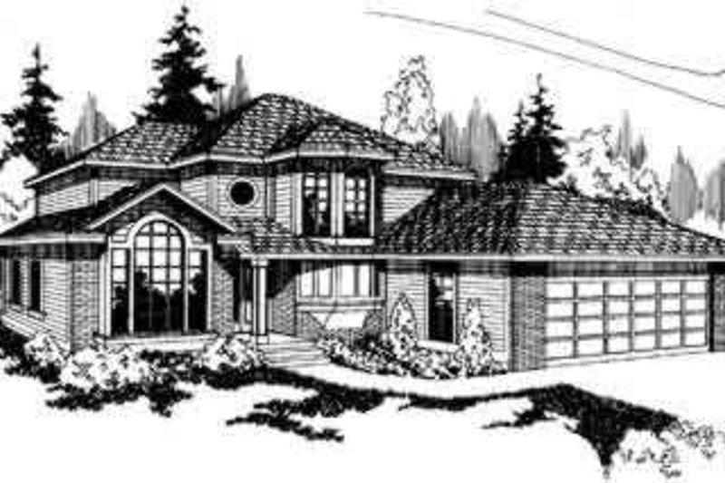European Exterior - Front Elevation Plan #124-157 - Houseplans.com