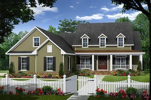 Country Exterior - Front Elevation Plan #21-320