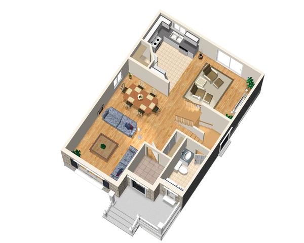 Traditional Floor Plan - Main Floor Plan Plan #25-4473