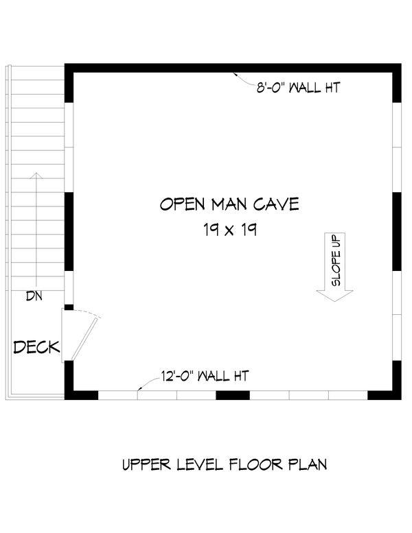 Contemporary Floor Plan - Upper Floor Plan #932-50