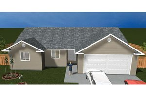 Home Plan Design - Ranch Exterior - Front Elevation Plan #1060-36