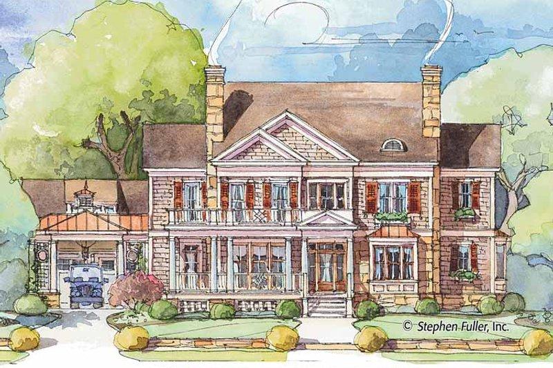 Colonial Exterior - Front Elevation Plan #429-432 - Houseplans.com