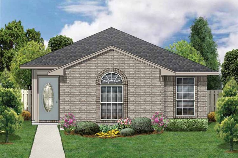 House Plan Design - Traditional Exterior - Front Elevation Plan #84-671