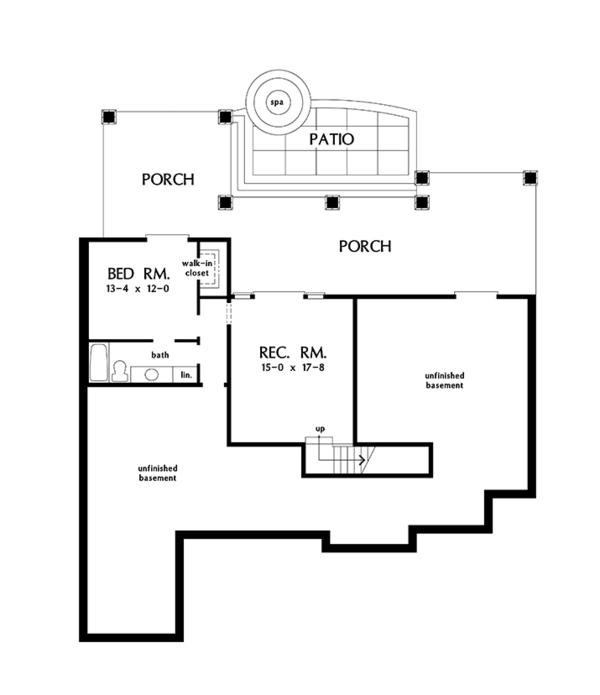 Traditional Floor Plan - Lower Floor Plan Plan #929-983
