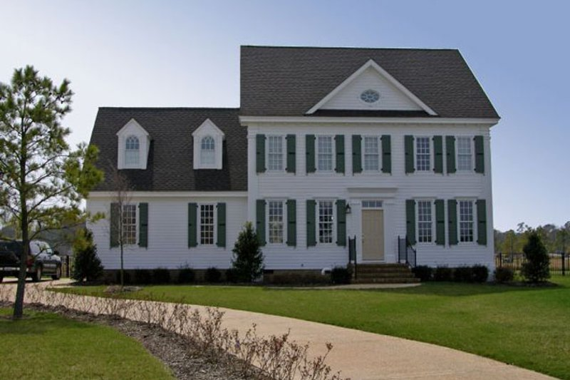 Classical Exterior - Front Elevation Plan #137-314 - Houseplans.com