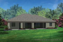 Contemporary Exterior - Rear Elevation Plan #930-454
