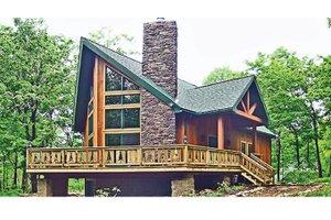 Cabin Exterior - Front Elevation Plan #314-285