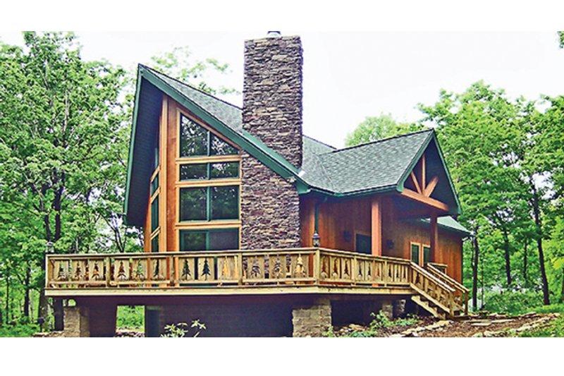 House Design - Cabin Exterior - Front Elevation Plan #314-285
