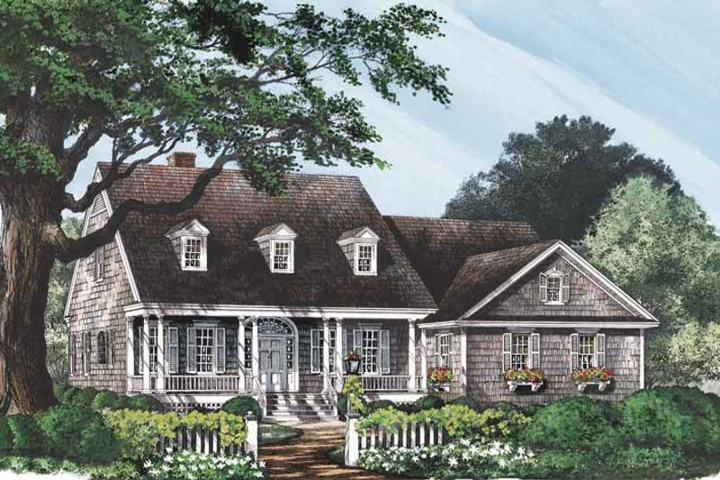 Classical Exterior - Front Elevation Plan #137-309 - Houseplans.com