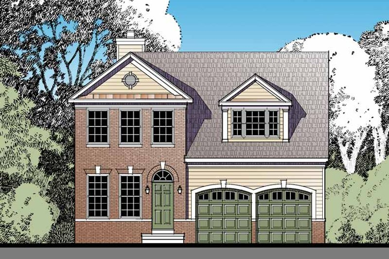 Home Plan - Traditional Exterior - Front Elevation Plan #1029-59