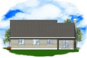 Traditional Style House Plan - 3 Beds 2 Baths 1557 Sq/Ft Plan #48-121 Exterior - Rear Elevation