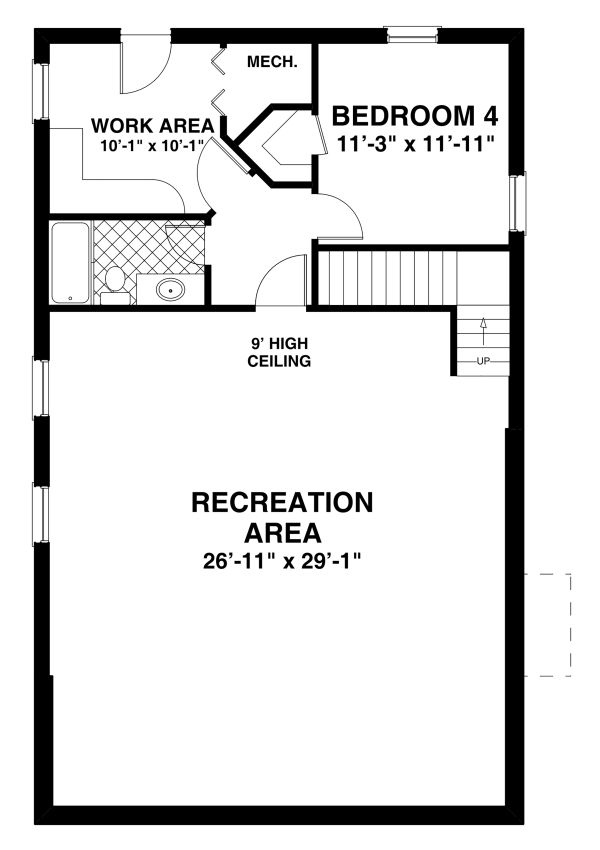 Home Plan - Craftsman Floor Plan - Lower Floor Plan #56-724