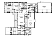 Mediterranean Style House Plan - 3 Beds 3 Baths 4795 Sq/Ft Plan #1058-15 Floor Plan - Main Floor Plan