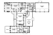 Mediterranean Style House Plan - 3 Beds 3 Baths 4795 Sq/Ft Plan #1058-15 Floor Plan - Main Floor