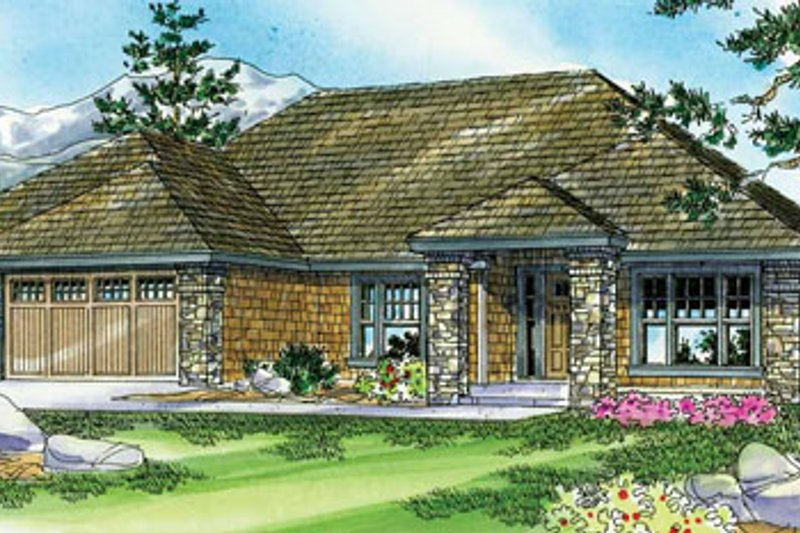 Craftsman Style House Plan - 3 Beds 2.5 Baths 2661 Sq/Ft Plan #124-773 Exterior - Front Elevation